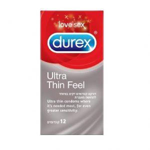 12 קונדומים DUREX EXTRA THIN דורקס