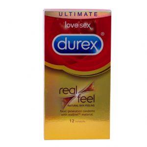 דורקס durex real feel קונדומים ללא לטקס 12 יחידות