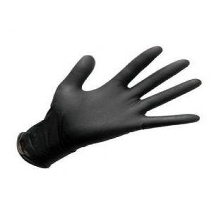 כפפות ניטריל Large שחורות ללא אבקה 100 יח'